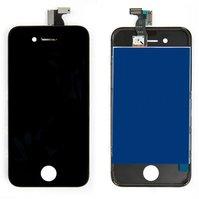 Дисплей  iPhone 4, черный, с рамкой, с сенсорным экраном, high-copy