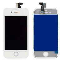 Дисплей  iPhone 4, белый, с рамкой, с сенсорным экраном, high-copy