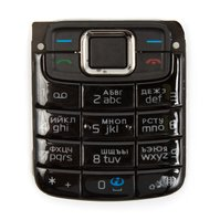 Клавиатура для мобильного телефона Nokia 3110c, черная, русская