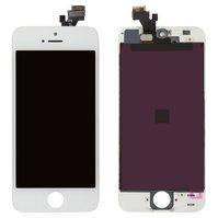 Дисплей  iPhone 5, белый, с рамкой, с сенсорным экраном, high-copy