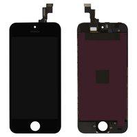Дисплей  iPhone 5S, черный, с сенсорным экраном, с рамкой, high-copy