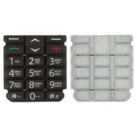 Клавиатура для мобильного телефона Fly EZZY 4, original, черная, русская, #3.08.BK097.00JX/YW23-311-0108