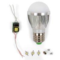 Комплект для сборки светодиодной лампы SQ-Q01 3 Вт (холодный белый, E27)