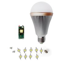 Комплект для сборки LED-лампы SQ-Q24 E27 9 Вт – теплый белый