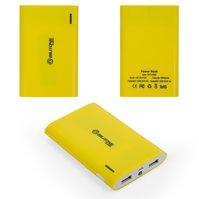 Power bank Bilitong Y065, 6600 мАч, USB-выход 5В 1A/2,1A, 112,5*73*16,4 мм, желтый