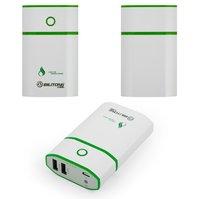 Power bank Bilitong Y051, 7800 мАч, USB-выход 5В 1A/2,1A, 100*26*25 мм, с фонариком, зеленый
