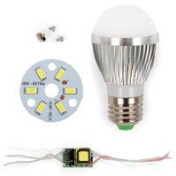 Комплект для сборки лампы, SQ-Q01, 5730 , 3 Вт, E27, CW (холодный)