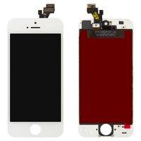 Дисплей  iPhone 5, белый, с рамкой, с сенсорным экраном, original (PRC)
