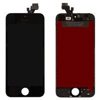 Дисплей  iPhone 5, черный, с рамкой, с сенсорным экраном, original (PRC)
