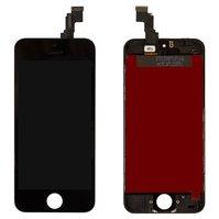 Дисплей  iPhone 5C, черный, с рамкой, с сенсорным экраном, original (PRC)