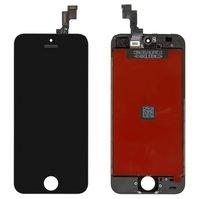 Дисплей  iPhone 5S, iPhone SE, черный, с рамкой, с сенсорным экраном, original (PRC)