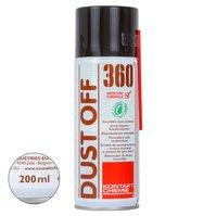Сжатый воздух Kontakt Chemie KONTAKT DUSTOFF-360/200, (вверх дном) не вызывает эффекта заморозки, 200 мл