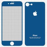 Закаленное защитное стекло All Spares для мобильного телефона Apple iPhone 7, 0,26 мм 9H, переднее и заднее, синий