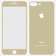 Закаленное защитное стекло All Spares для мобильного телефона Apple iPhone 7 Plus, 0,26 мм 9H, переднее и заднее, золотистый