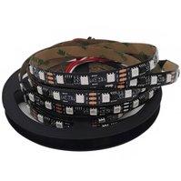 Светодиодная лента RGB SMD5050, WS2811 (черная, c  управлением, IP20, 12 В, 60 диодов/м, 1 м)