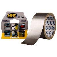 Лента армированная односторонняя HPX 6200, 50 мм, 5 м, серебристая