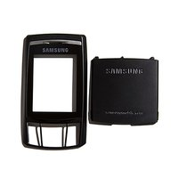 Housing for Samsung D840 Cell Phone, (black, front and back panel)