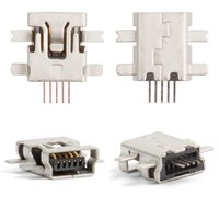 Charge Connector for Motorola E2, E6, E8, L2, L6, L7, U6, V3, V3i, W5 Cell Phones, (5 pin, mini-USB type-B)