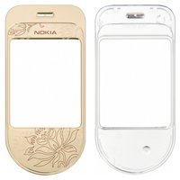 Housing Glass for Nokia 7370 Cell Phone, (golden)