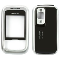 Housing for Nokia 6111 Cell Phone, (black, high copy, front and back panel)