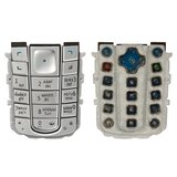 Keyboard for Nokia 6230 Cell Phone, (silver, russian)