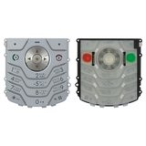 Keyboard for Motorola L6 Cell Phone, (silver, english)
