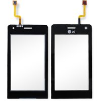 Touchscreen for LG KU990 Cell Phone, (black)