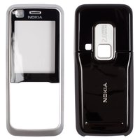 Housing for Nokia 6120c, 6121c Cell Phones, (silver, high copy, front and back panel)