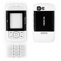 Housing for Nokia 5200 Cell Phone, (black, high copy, with keyboard, front and back panel)