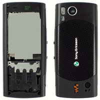 Housing for Sony Ericsson W902 Cell Phone, (black, high copy)
