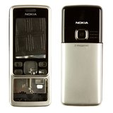 Housing for Nokia 6300 Cell Phone, (High Copy, silver)