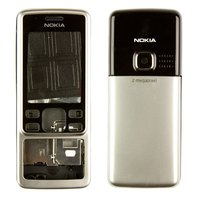 Housing for Nokia 6300 Cell Phone, (silver, high copy)