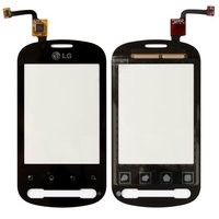 Touchscreen for LG P350 Cell Phone, (black)