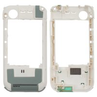Housing Middle Part for Nokia 5200, 5300 Cell Phones, (white, without components)