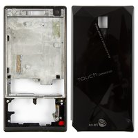Housing for HTC P3700 Diamond Cell Phone, (black)
