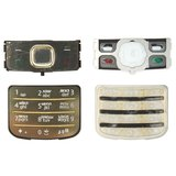 Keyboard for Nokia 6700c Cell Phone, (golden, russian)