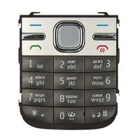 Keyboard for Nokia C5-00 Cell Phone, (grey, russian)