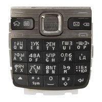 Keyboard for Nokia E55 Cell Phone, (black, russian)