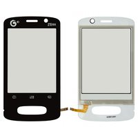 Touchscreen for ZTE U232 Cell Phone, (black)