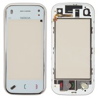 Touchscreen for Nokia N97 Mini Cell Phone, (white, copy, with front panel)