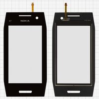 Touchscreen for China-Nokia X7 Cell Phone, (black, 91 mm, (115*59mm),(79*45mm))