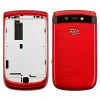 Carcasa para celular Blackberry 9800, rojo, high copy