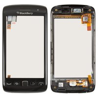 Touchscreen for Blackberry 9860 Cell Phone, (black, with front panel)
