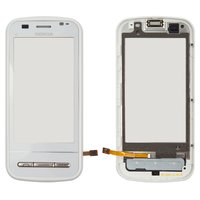 Touchscreen for Nokia C6-00 Cell Phone, (white, with front panel)