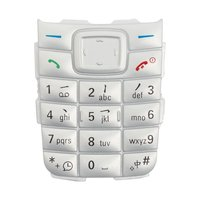 Keyboard for Nokia 1110, 1110i, 1112 Cell Phones, (silver, english)