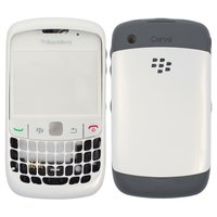 Carcasa para celular Blackberry 8520, blanco, high copy