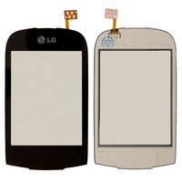 Touchscreen for LG T500, T510, T515 Cell Phones, (black)