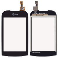 Touchscreen for LG P690 Cell Phone, (black)