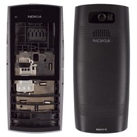 Housing for Nokia X2-02 Cell Phone, (black, high copy)