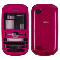 Housing for Nokia 201 Asha Cell Phone, (pink, high copy)